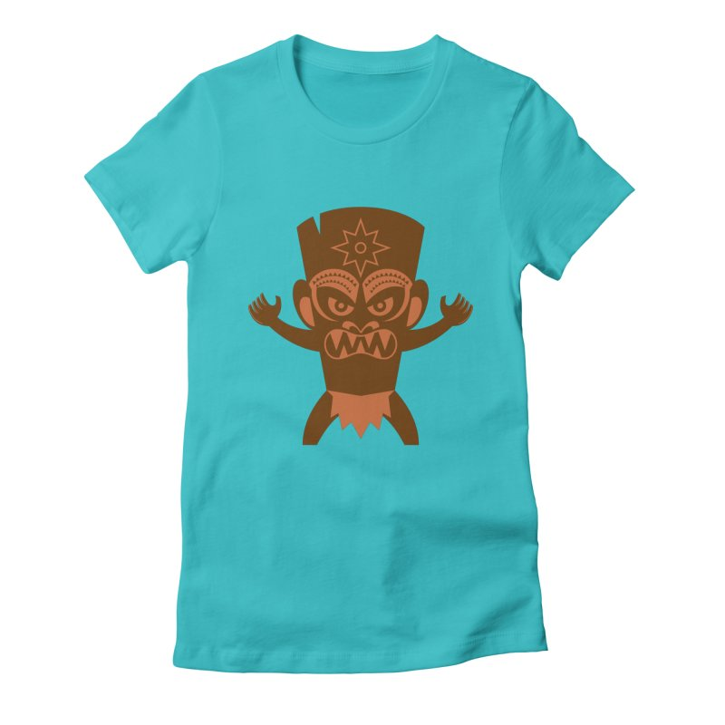 Tiki Women's Fitted T-Shirt by Angry Guppie Design's Artist Shop