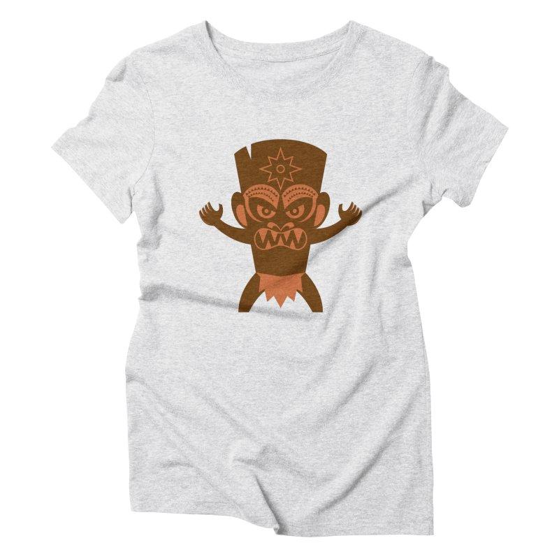 Tiki Women's Triblend T-Shirt by Angry Guppie Design's Artist Shop