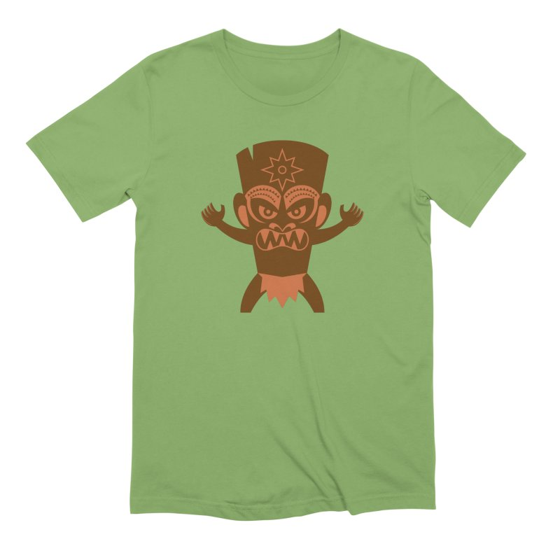 Tiki Men's Extra Soft T-Shirt by Angry Guppie Design's Artist Shop