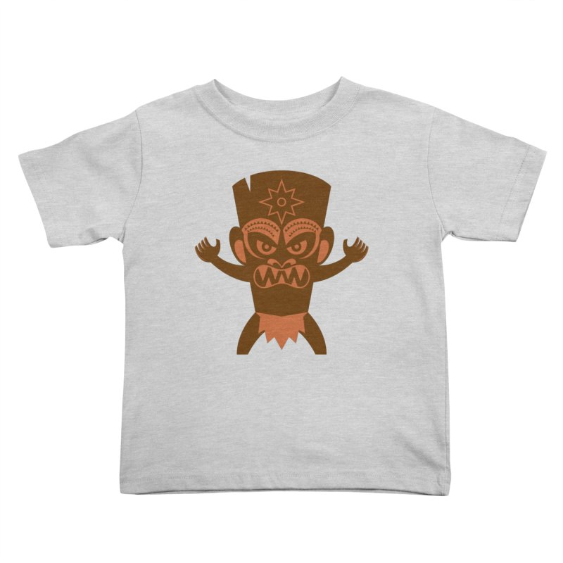 Tiki Kids Toddler T-Shirt by Angry Guppie Design's Artist Shop