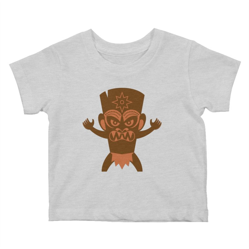 Tiki Kids Baby T-Shirt by Angry Guppie Design's Artist Shop