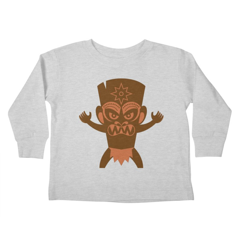 Tiki Kids Toddler Longsleeve T-Shirt by Angry Guppie Design's Artist Shop