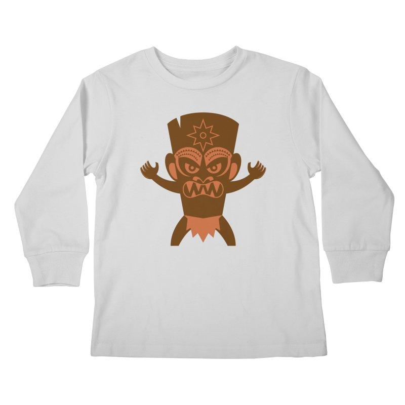 Tiki Kids Longsleeve T-Shirt by Angry Guppie Design's Artist Shop