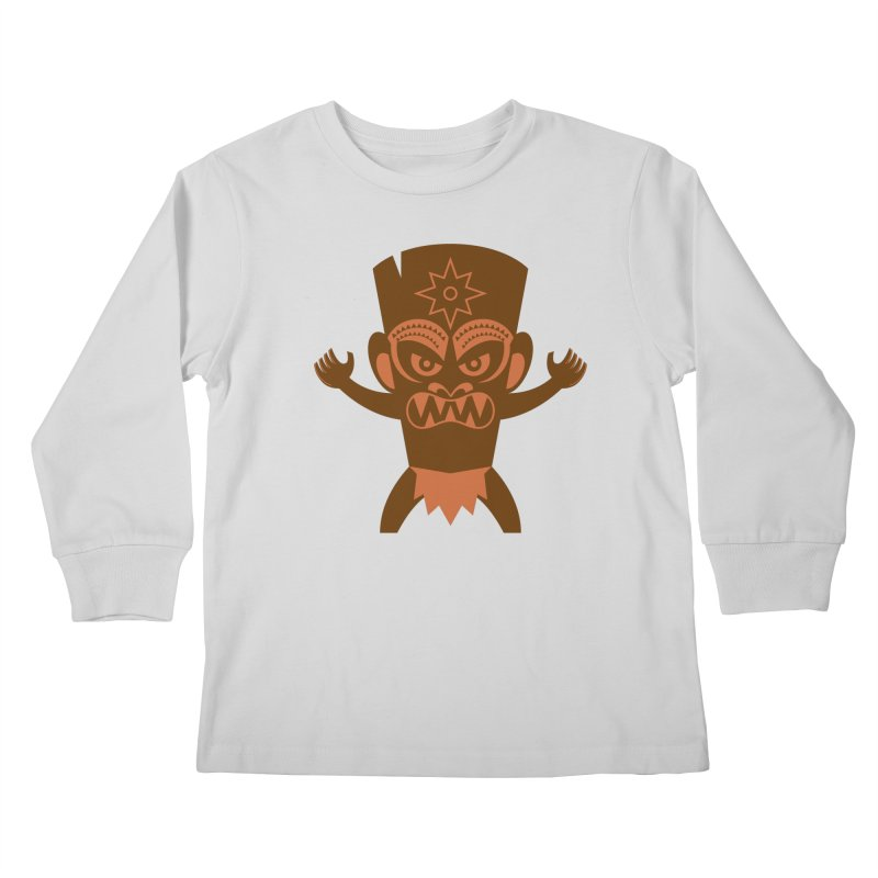 Tiki Kids Longsleeve T-Shirt by Angry Guppie Design's Artist Shop