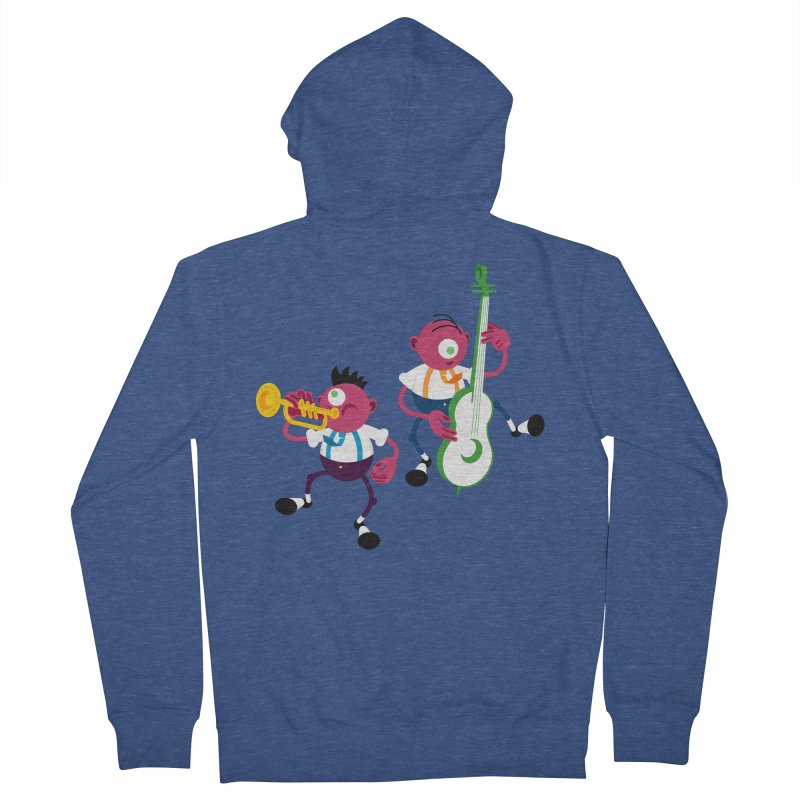 Dancing Twins Men's French Terry Zip-Up Hoody by Angry Guppie Design's Artist Shop
