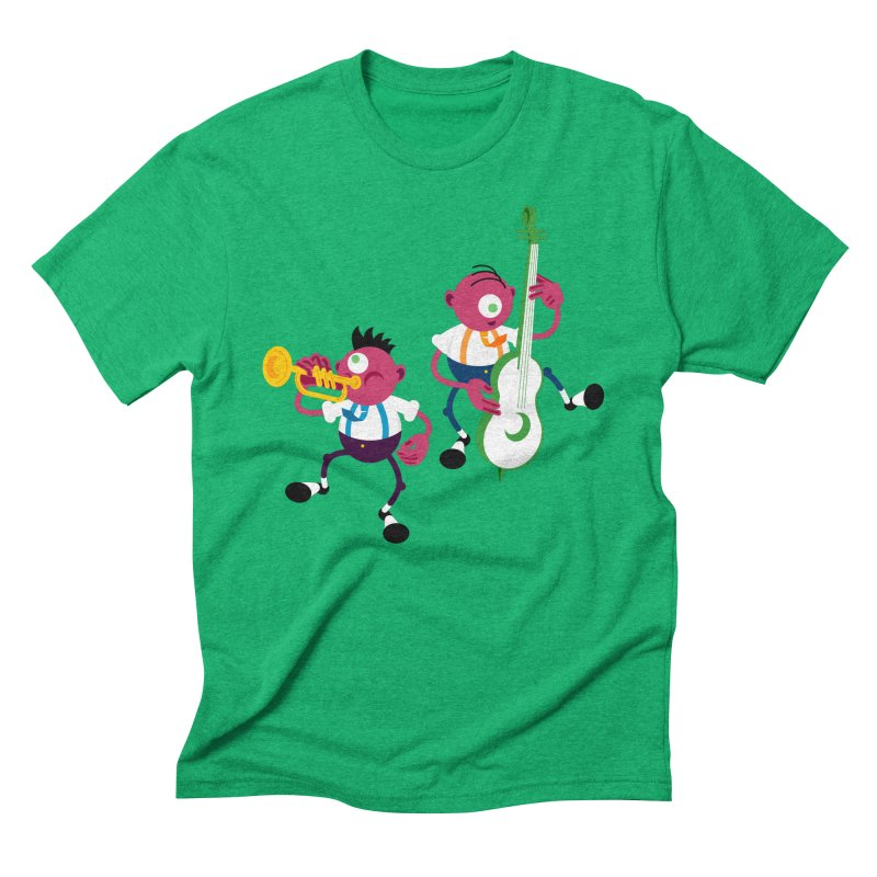 Dancing Twins Men's Triblend T-Shirt by Angry Guppie Design's Artist Shop