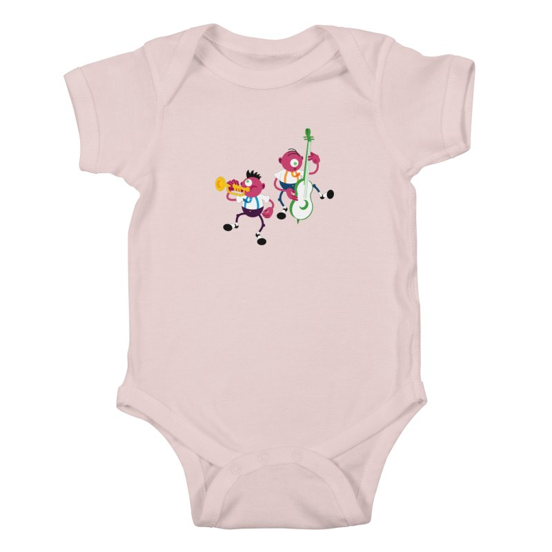 Dancing Twins Kids Baby Bodysuit by Angry Guppie Design's Artist Shop
