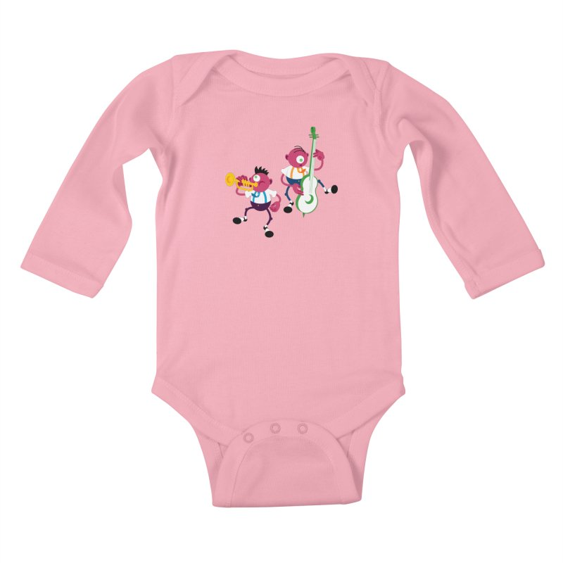 Dancing Twins Kids Baby Longsleeve Bodysuit by Angry Guppie Design's Artist Shop