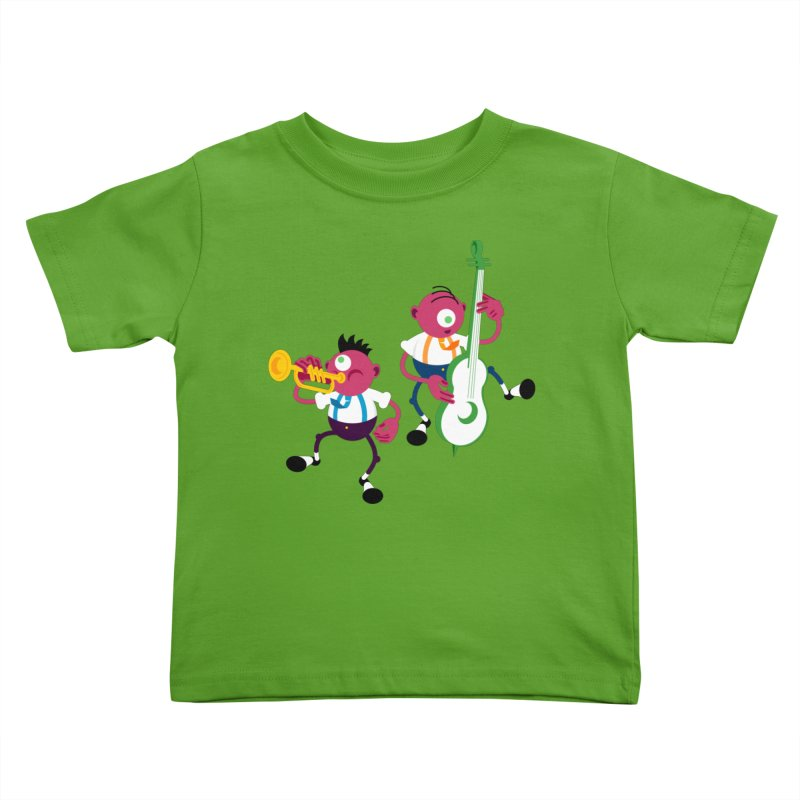 Dancing Twins Kids Toddler T-Shirt by Angry Guppie Design's Artist Shop
