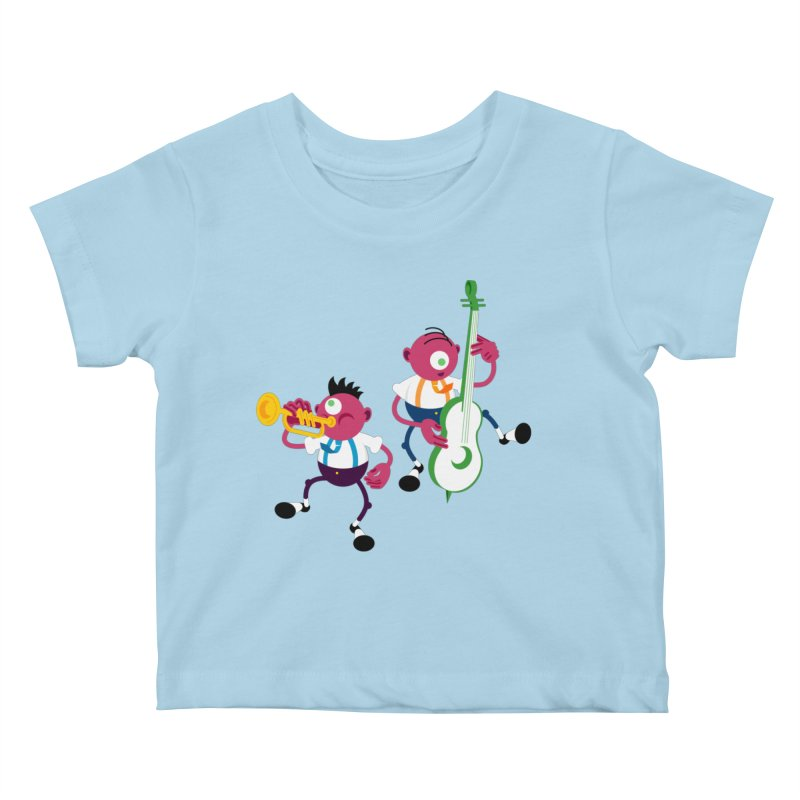 Dancing Twins Kids Baby T-Shirt by Angry Guppie Design's Artist Shop