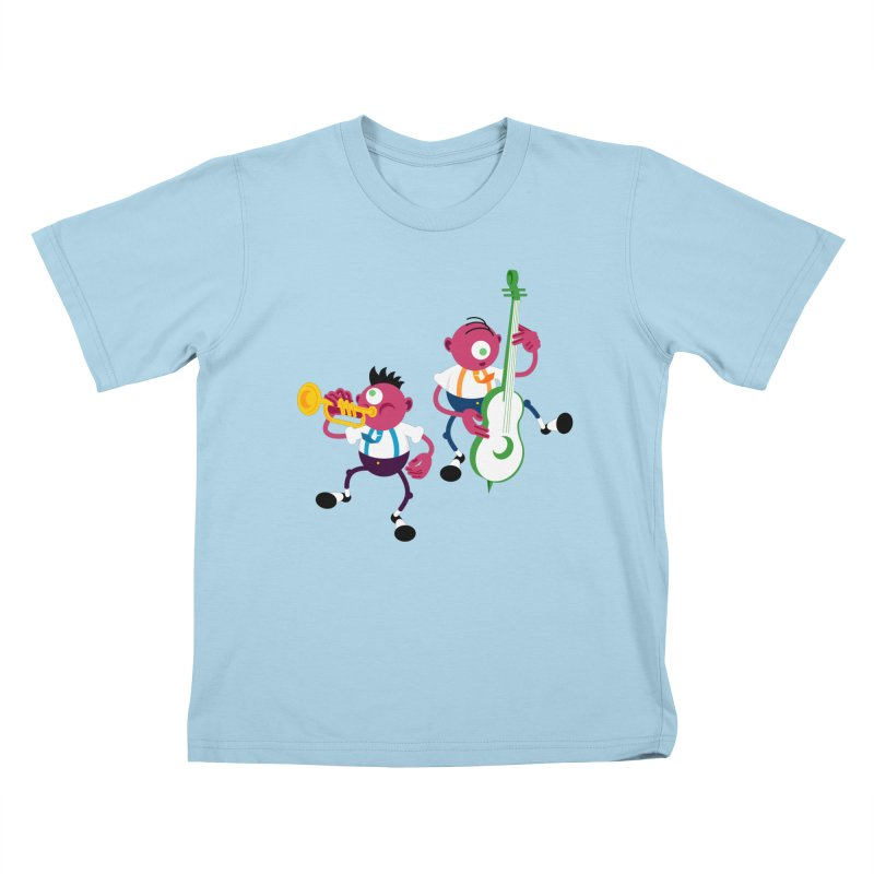 Dancing Twins Kids T-Shirt by Angry Guppie Design's Artist Shop