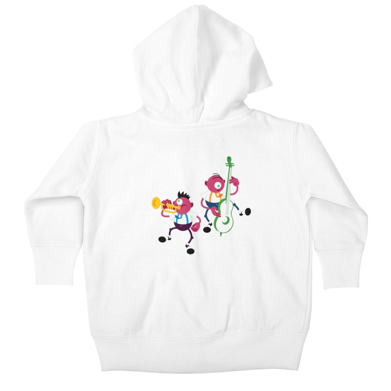 Dancing Twins Kids Baby Zip-Up Hoody by Angry Guppie Design's Artist Shop