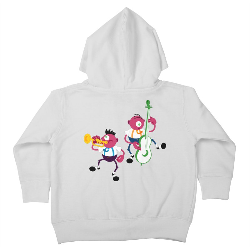 Dancing Twins Kids Toddler Zip-Up Hoody by Angry Guppie Design's Artist Shop