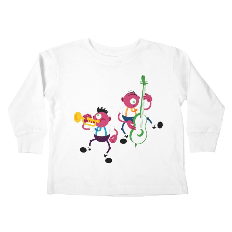 Dancing Twins Kids Toddler Longsleeve T-Shirt by Angry Guppie Design's Artist Shop