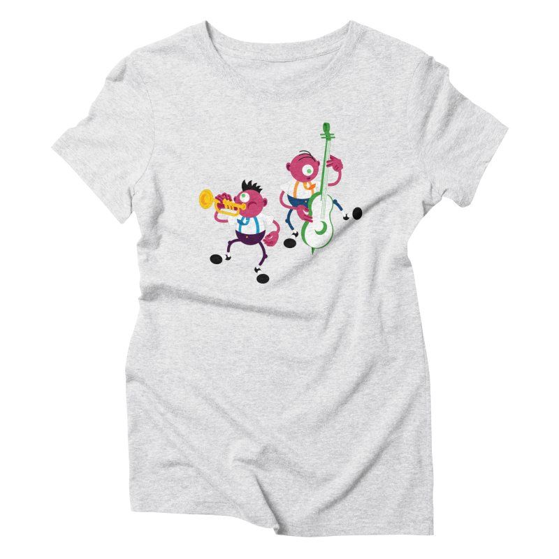 Dancing Twins Women's Triblend T-Shirt by Angry Guppie Design's Artist Shop