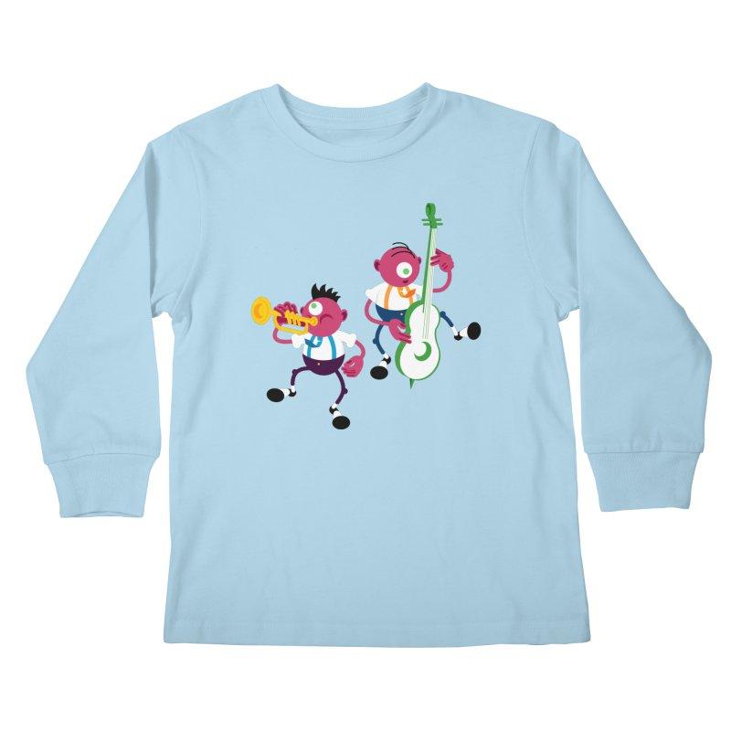 Dancing Twins Kids Longsleeve T-Shirt by Angry Guppie Design's Artist Shop