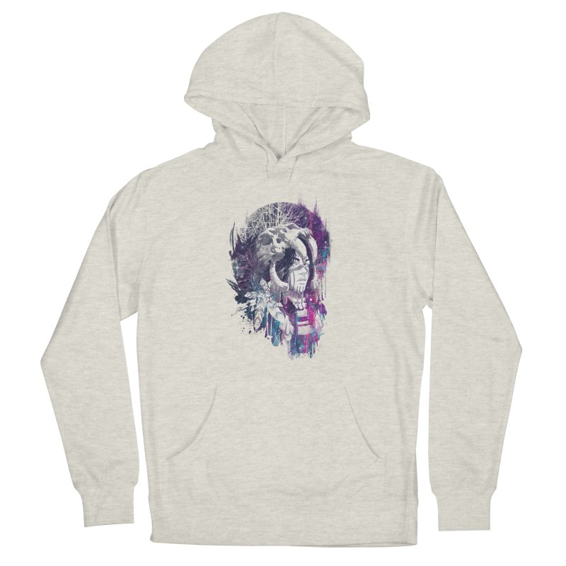 Shaman  Men's French Terry Pullover Hoody by Angrymonk