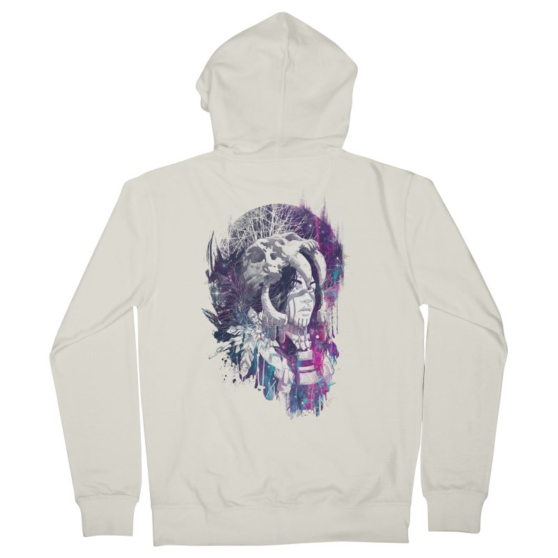 Shaman  Men's Zip-Up Hoody by Angrymonk