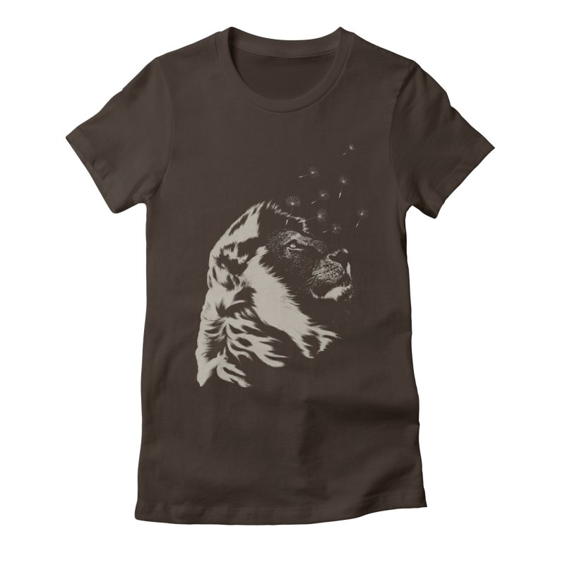 Dande-lion Women's Fitted T-Shirt by Angrymonk