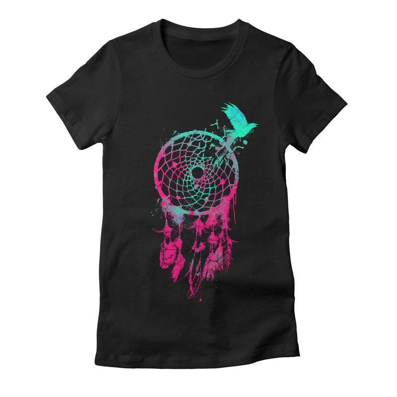 Dream Escape Women's Fitted T-Shirt by Angrymonk