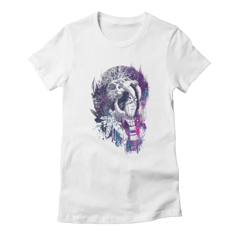 Shaman Women's Fitted T-Shirt by Angrymonk