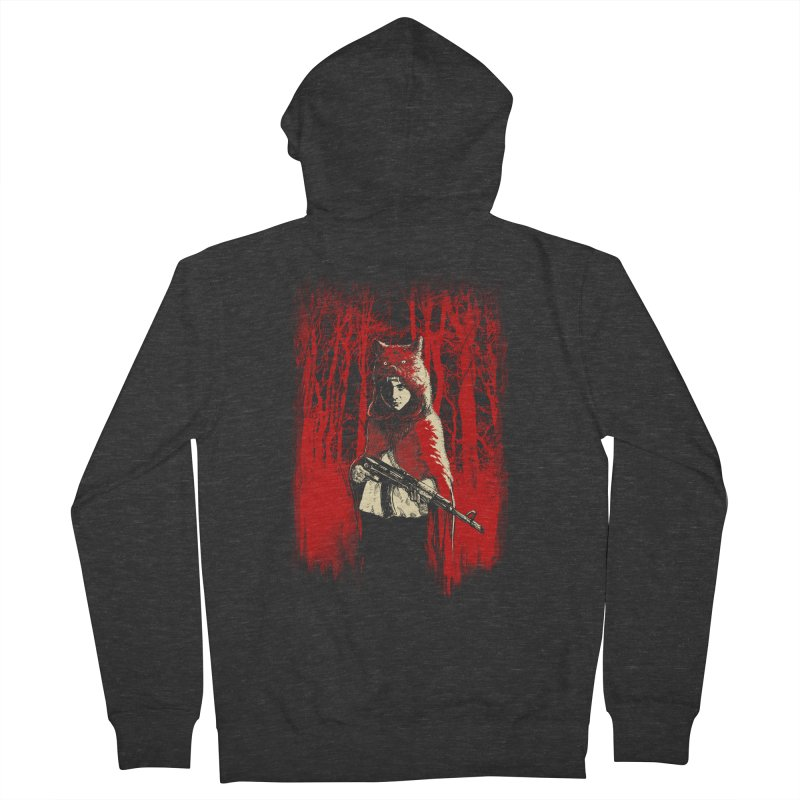 Here Comes the Red One Women's Zip-Up Hoody by Angrymonk