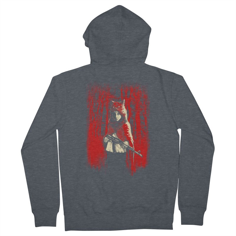 Here Comes the Red One Women's French Terry Zip-Up Hoody by Angrymonk