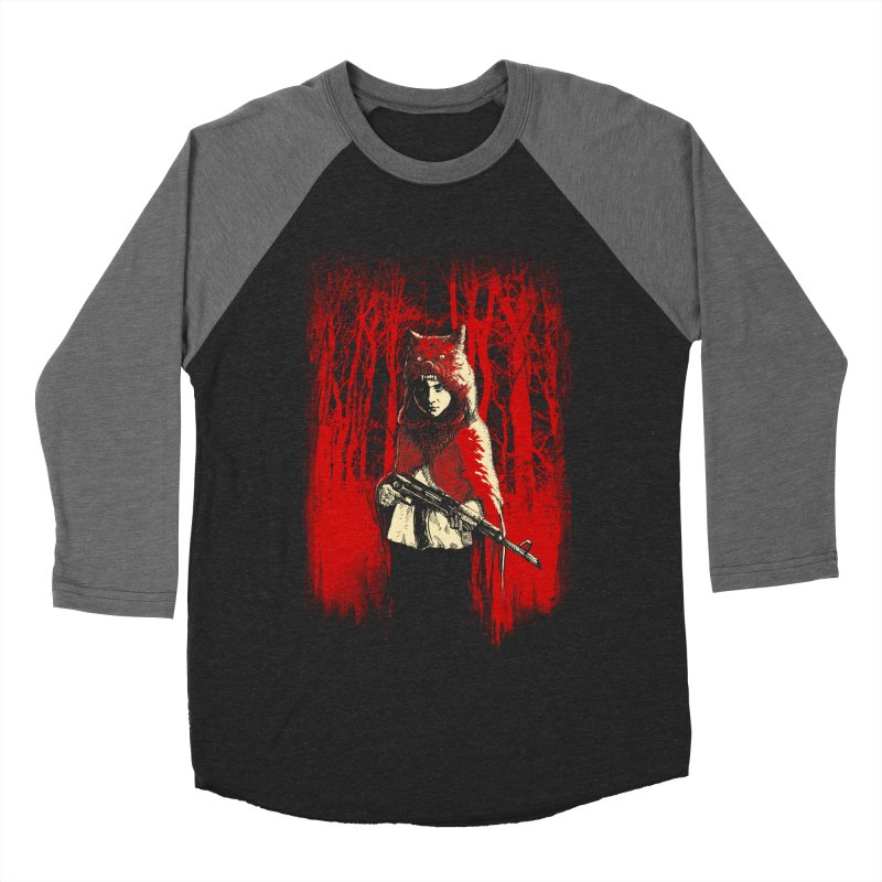 Here Comes the Red One Women's Baseball Triblend Longsleeve T-Shirt by Angrymonk