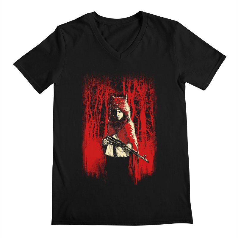 Here Comes the Red One Men's V-Neck by Angrymonk