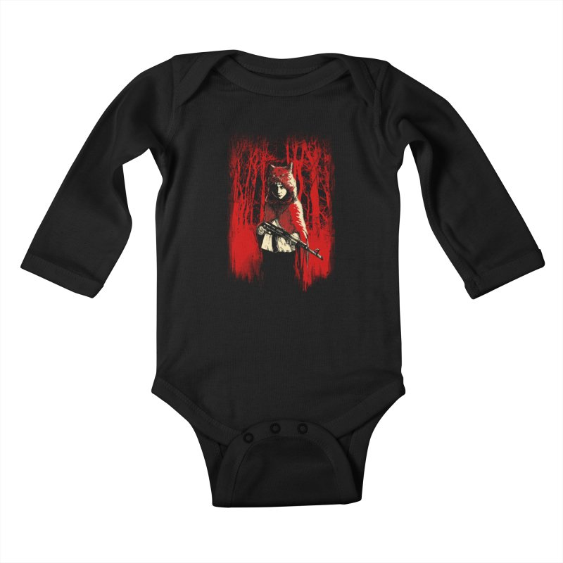 Here Comes the Red One Kids Baby Longsleeve Bodysuit by Angrymonk