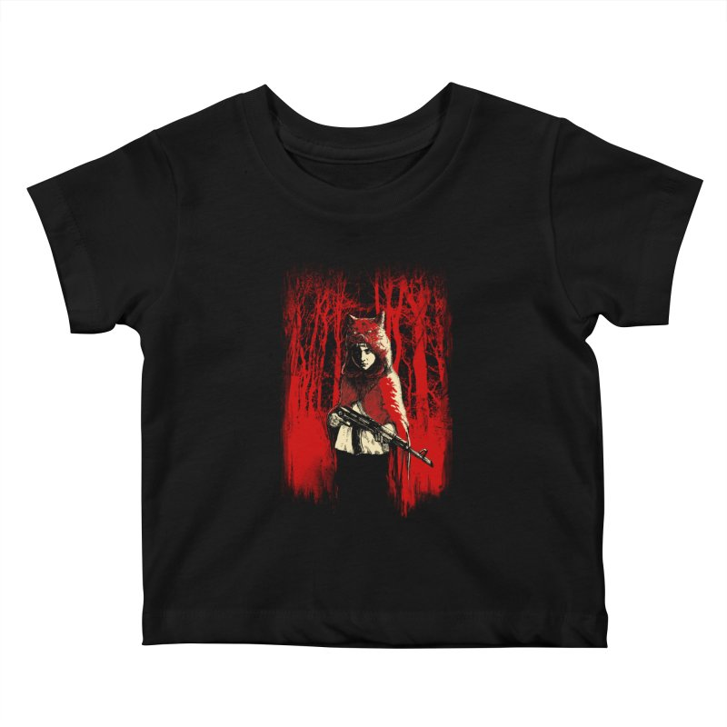 Here Comes the Red One Kids Baby T-Shirt by Angrymonk