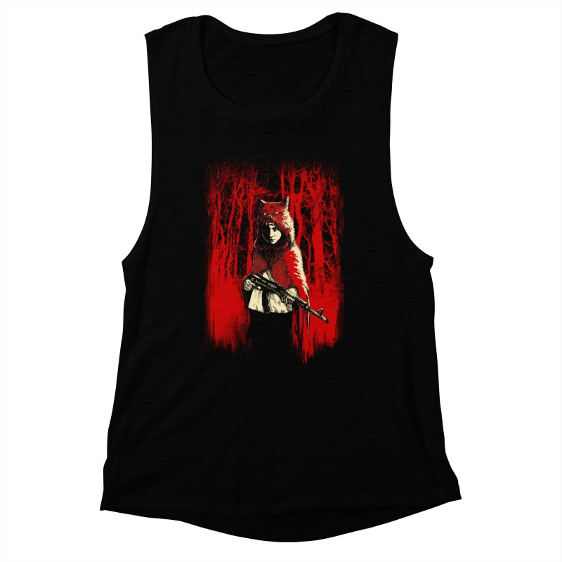 Here Comes the Red One Women's Muscle Tank by Angrymonk