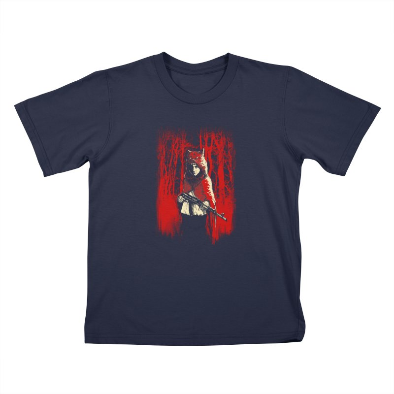 Here Comes the Red One Kids T-Shirt by Angrymonk