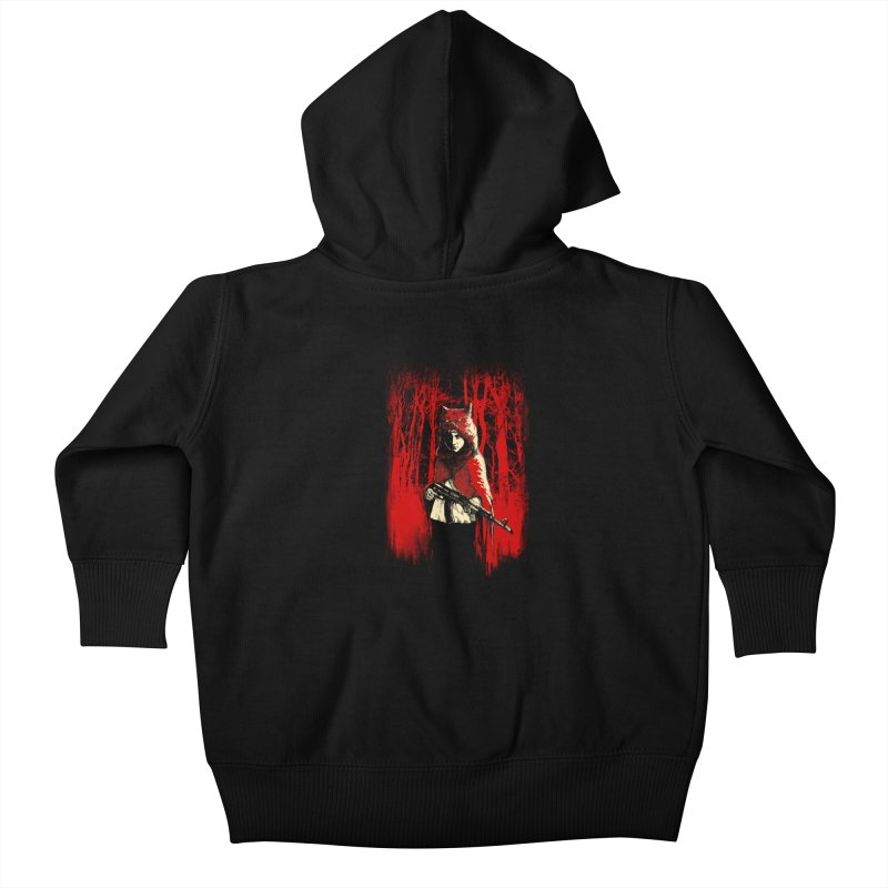 Here Comes the Red One Kids Baby Zip-Up Hoody by Angrymonk