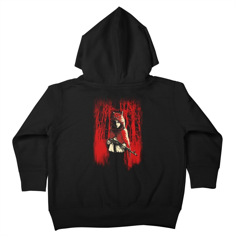 Here Comes the Red One Kids Toddler Zip-Up Hoody by Angrymonk