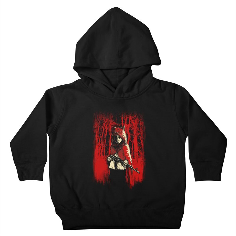 Here Comes the Red One Kids Toddler Pullover Hoody by Angrymonk