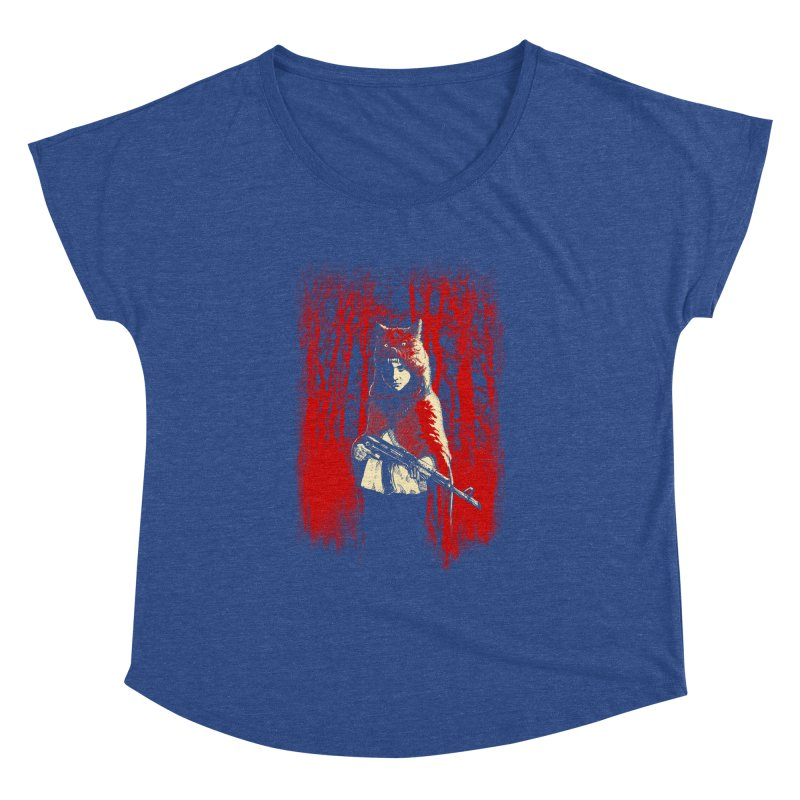 Here Comes the Red One Women's Dolman Scoop Neck by Angrymonk