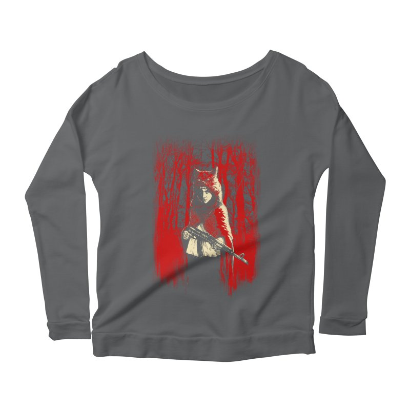 Here Comes the Red One Women's Longsleeve Scoopneck  by Angrymonk