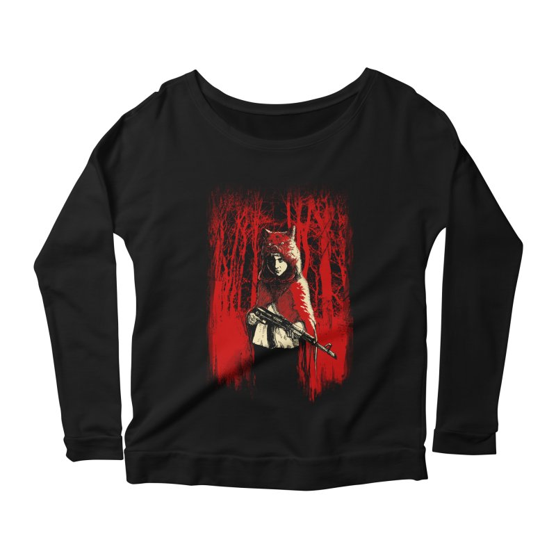 Here Comes the Red One Women's Scoop Neck Longsleeve T-Shirt by Angrymonk