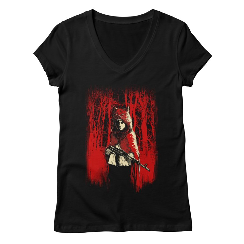 Here Comes the Red One Women's Regular V-Neck by Angrymonk