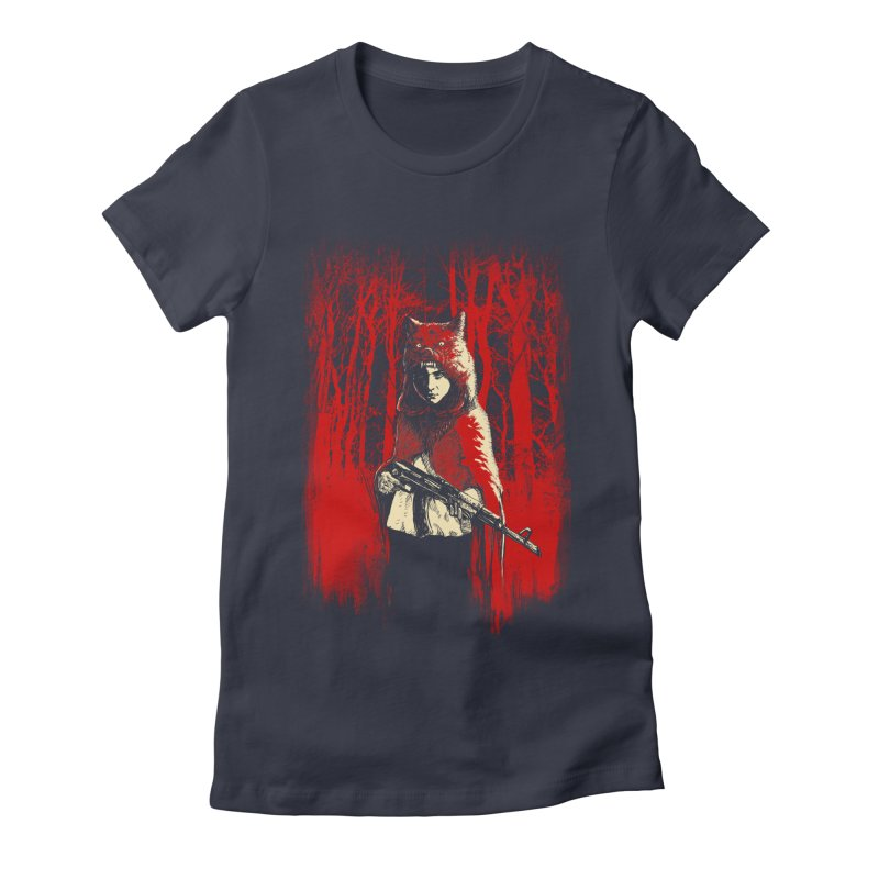 Here Comes the Red One Women's Fitted T-Shirt by Angrymonk