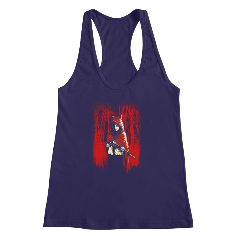 Here Comes the Red One Women's Racerback Tank by Angrymonk