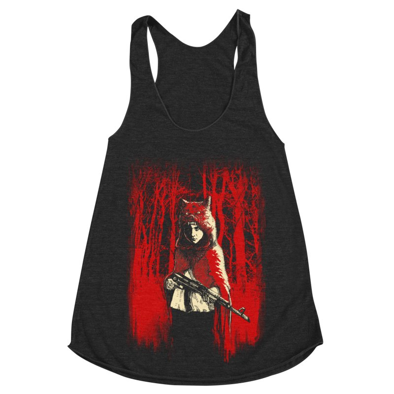 Here Comes the Red One Women's Racerback Triblend Tank by Angrymonk