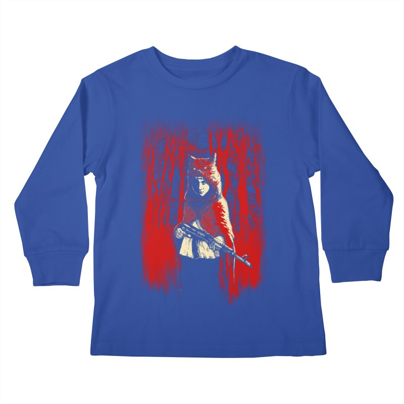 Here Comes the Red One Kids Longsleeve T-Shirt by Angrymonk