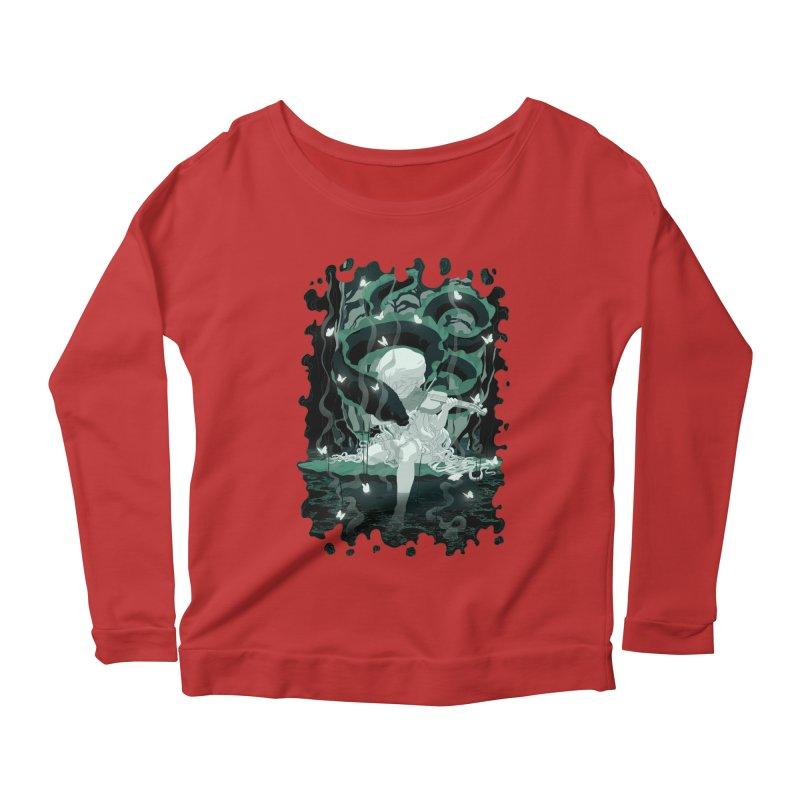 Serenata Women's Scoop Neck Longsleeve T-Shirt by Angrymonk