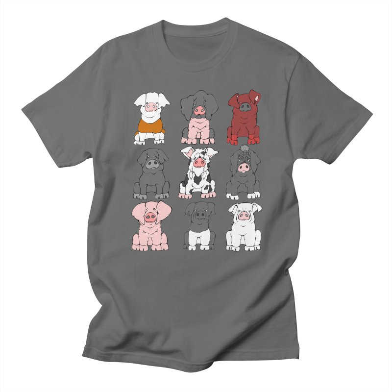 Pigs Pigs Pigs Men's T-Shirt by Angry Squirrel Studio