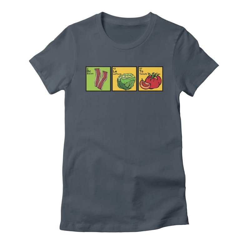 BLT - Bacon, Lettuce and Tomato Women's Fitted T-Shirt by Angry Squirrel Studio