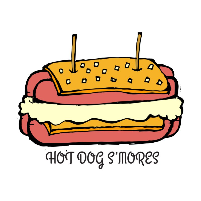 Hot Dog S'mores by Angry Squirrel Studio