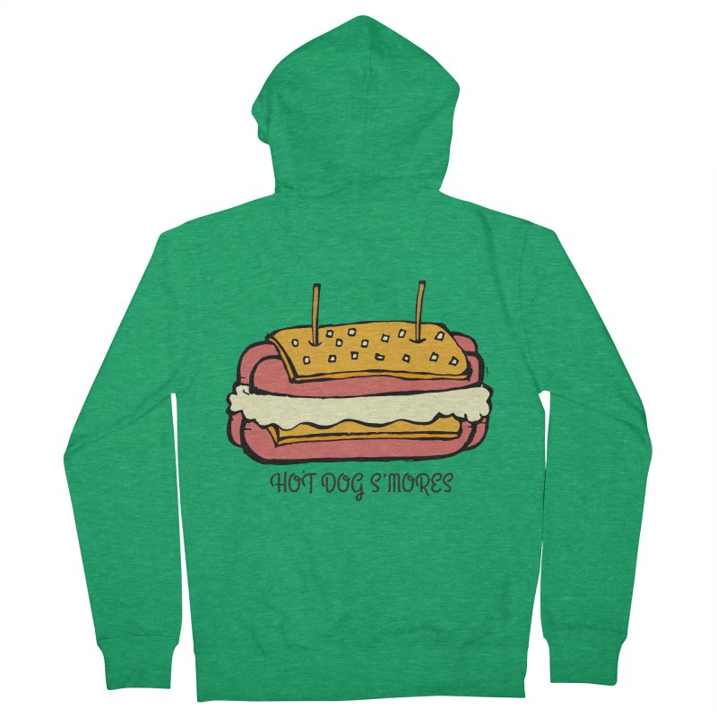 Hot Dog S'mores Men's Zip-Up Hoody by Angry Squirrel Studio