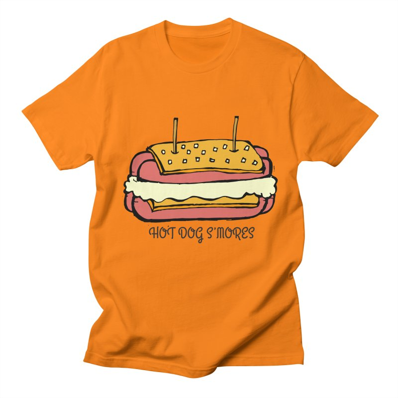 Hot Dog S'mores Men's T-Shirt by Angry Squirrel Studio